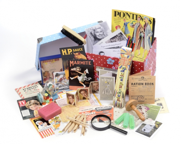 picture of a 1950s reminiscence pack