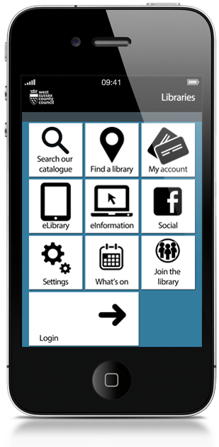 West Sussex Library app